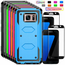For Samsung Galaxy S7 / S7 edge Phone Case Shockproof Hybrid Rubber Rugged Cover