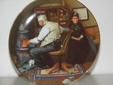 "Norman Rockwell Collector Plate ""Keeping Company"" Golden Moments Collection Nib"