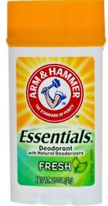 2 Pack Arm & Hammer Essentials Deodorant Wide Solid, Fresh, 2.5 oz