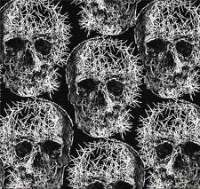 Gothic Skulls Freak Designer Patchworkstoff Baumwolle Stoffe Halloween Totenkopf