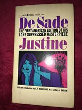 Justine by Marquis De Sade 1964 US 1st edition Lancer - Vintage paperback rare!