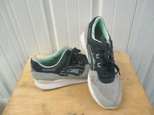 ASIC GEL-LYTE III SIZE 12 SHOES BLACK TEAL GRAY PREOWNED H6X2L