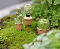 Miniature Green Plant In Pot For Dollhouse Furniture Decoration Home Decor RS
