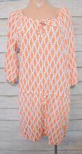 NAMASTAI Dress Sz (1) medium 10 12  orange white shift tunic dress