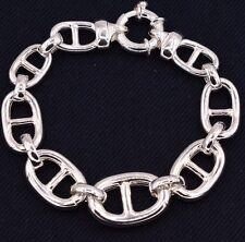 Puffed Gucci Mariner Bracelet Shiny Polished Real 925 Sterling Silver 8""
