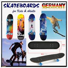 Skateboard Funboard Holzboard komplett 80x20cm Für Erwachsene / Kinder Universal