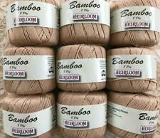 BAMBOO 8 Ply thread yarn~Heirloom~9 SK~TAN pink undertones~Knit+Crochet