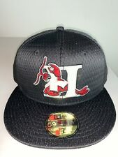 New Era MILB Hickory Crawdads Black Mesh Batting Practice Hat Fitted NWT 7