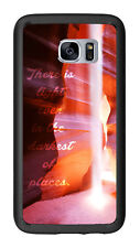 Canyon Quote There Is Light In The Darkest Places For Samsung Galaxy S7 G930 Cas