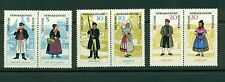 Germany (DDR) #739-41 (1964 Costumes pairs) MNH CV $40.00