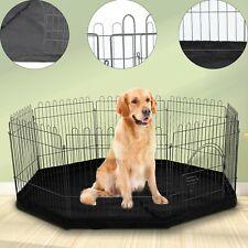 8 Sided Dog Pet Pen Puppy Rabbit Metal Playpen Run Indoor/Outdoor Cage & Mat
