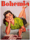 """20x30""""Poster on CANVAS Poster.Room art.Bohemia cover.Girl looking happy.6876"""