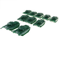 10PCS Medium Tank Military Model Toy Soldiers Army Men Accessories - Green