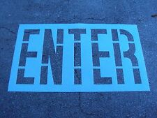 """Wal Mart 36"""" ENTER Parking Lot Stencil .062"""" Thick LDPE Plastic"""