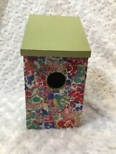 Bird House Shabby Chic Decoupaged With Liberty Of London Prints