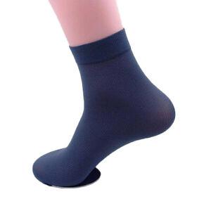 Summer Men's Socks Casual Business Thin Elastic Silky Casual Short Crew Socks @