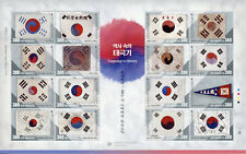 South Korea Stamps 2019 MNH Korean Flag Flags Taegeukhi in History 16v M/S