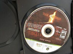 RESIDENT EVIL 5 XBOX 360 Original disk only, after market case. tested working