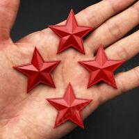 4pcs 3D Red Metal Pentacle Pentagram CPC Car Trunk Emblem Badge Decal Sticker