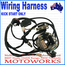Full Electrics wiring harness 125cc PIT Dirt PRO BIGFOOT KICK START ONLY Bike B