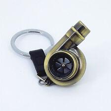 Spinning Turbocharger Turbo Turbine Whistle Keychain Keyring Key Chain Keyfob