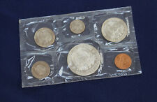 1967 Panama 6 Coin Proof Set with 1/2 & 1 Silver Balboas Original Package E2164