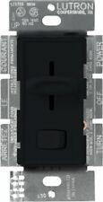 Lutron S-10P-BL Skylark 1000-Watt Single Pole Dimmer with On/Off Switch, Black