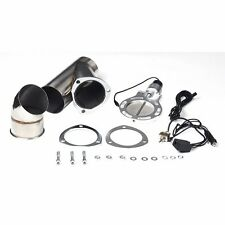 """4"""" Electric Exhaust Cutout Toggle Switch Control Valve Catback Downpipe Kit"""