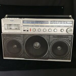 Philips D8444 Power Player Stereo Radio Cassette Recorder Vintage Boombox Ghetto