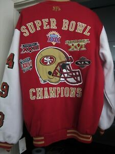 San Francisco 49ers SUPER BOWL CHAMPIONS Jacket Size Mens Large New With Tags