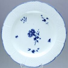 Chantilly um 1770: Teller mit Nelke Blau Osier Speiseteller Oeillet bleu plate