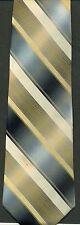 Corsini men's necktie 100% silk silver and gold