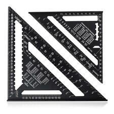 7/12Inch Aluminium Triangular Measuring Ruler Woodworking Carpenter Square Angle