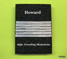 Howard Personalizer Machine - 18pt. Greeting Monoton - Hot Foil Stamping Machine