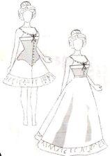 "Sewing  Patterns fits15 1/2 -16"" Tonner FASHION doll bjd Victorian corset skirt"