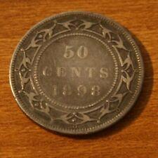 Newfoundland 50 Cents Silver 1898
