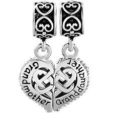 Puzzle Heart Love Grandmother Granddaughter Charms Dangle Pandora Charm Bracelet