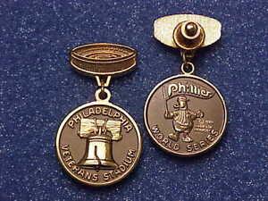 1980 Philadelphia Phillies World Series Media Press Pin - Kansas City Athletics