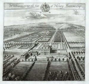 WILLIAMSTRIP PARK, Coln St. Aldwyns, Gloucestershire, J.KIP antique print 1768