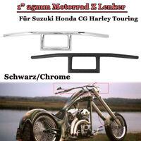 """1"""" 25mm Motorrad Z Lenker Z-Rohr Bar Für Suzuki Honda CG Harley Touring"""