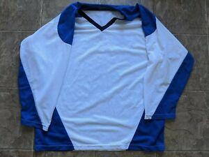 Tour 2XL Adult Hockey Jersey Shirt Blue/White