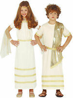 Kids Greek Fancy Dress Boys Girls Ancient Roman Grecian God Goddess Toga Costume