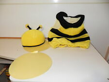 Nice Used Costume Bumble bee with hat & Wings Chlidrens