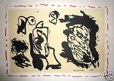 Alechinsky Pierre Lithographie sur velin 1983 art abstrait abstraction cobra