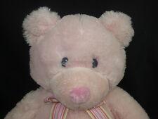 BIG RUSS BABY GIRL PINK HUGS PLUSH MY FIRST TEDDY BEAR STUFFED ANIMAL 1ST TOY