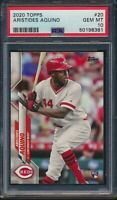 2020 Topps Series 1 #20 Aristides Aquino Rookie Card RC Graded PSA 10 GEM MINT