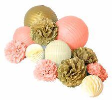 12pcs paper pom pom lantern honeycomb ball for wedding birthday party decoration