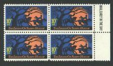 UnUsed US Postage Block 10 Cent Stamps The Legend of SLEEPY HOLLOW