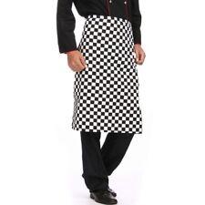 Black Check Half Chef Bar Apron