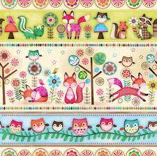 Friendly Forest Multi Stripe 100% Cotton Fabric by Spectrix SPX  FQ